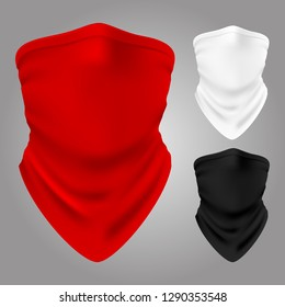 Vector realistic textile balaclavas of collection isolated