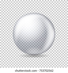 Vector realistic transparent ball.