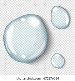 Vector realistic transparent water drop