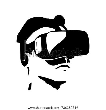 4f39e0ebd6 Vector Realistic Virtual Reality Glasses Headmounted Stock Vector ...