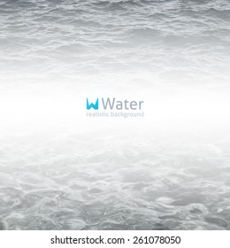 vector realistic water background in gray color