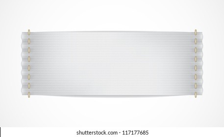 Vector realistic white label isolated. EPS10 image.