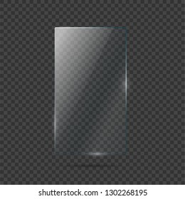 Vector of rectangle glass frame.