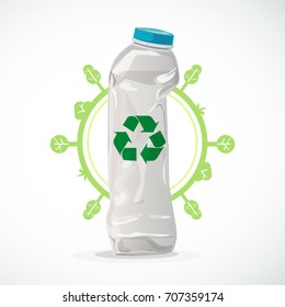 Vector of recycle  plastic bottle.