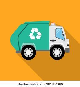 Vector Recycle Truck Icon