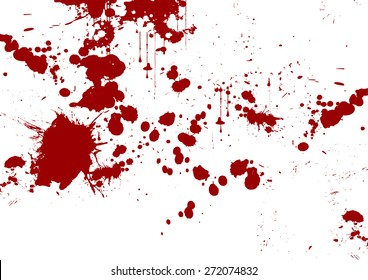 vector red abstract brush stroke and splatter background