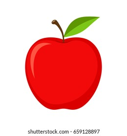 Vector red apple icon