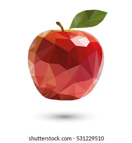 vector red apple soars