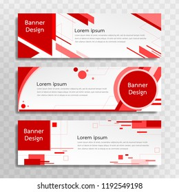 vector red banner template design 3 stock vector royalty free