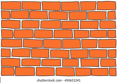 vector red brick wall background