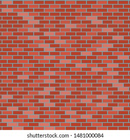 vector red brick wall pattern background