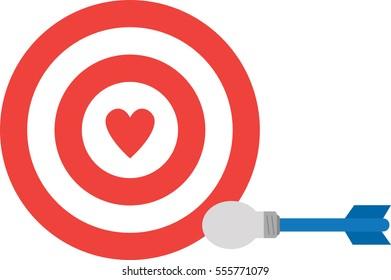 Heart bullseye images stock photos vectors shutterstock vector red bullseye with red heart and light bulb dart thecheapjerseys Choice Image