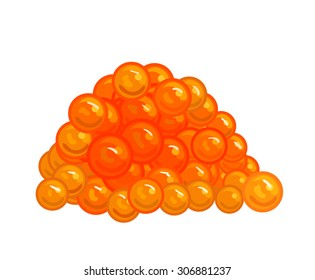 Vector red caviar