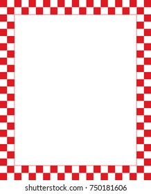 Vector red checkered frame