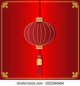 vector of red chinese lantern for chinese new year