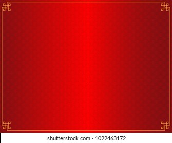vector of red chinese style wave background