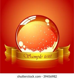 vector of red christmas sphere