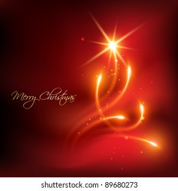 vector red color merry christmas background