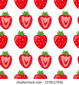 Vector red cuty strawberry pattern