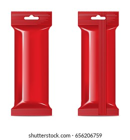 Vector red flow-pack