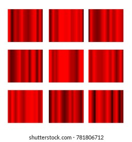Vector red foil gradient swatches