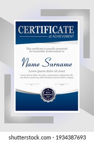 Vector red and gold certificate template