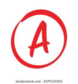 Vector A Red Grade Mark