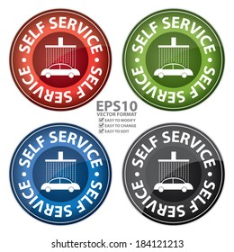 Self service car wash images stock photos vectors shutterstock vector red green blue and black glossy style circle self service car wash solutioingenieria Gallery