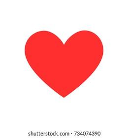 Vector red hearth symbol