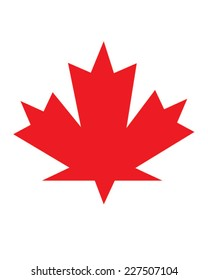 Vector red maple leaf icon