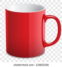 vector red mug