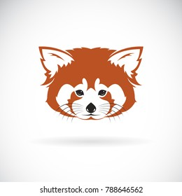 Vector of red panda head design on white background. Wild Animals. Easy editable layered vector illustration.