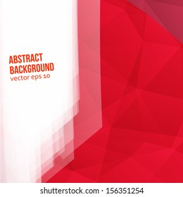 Vector red polygons. Abstract background for design