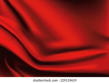 Vector of Red silk fabric background