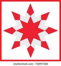 Vector red star - element for design for christmas