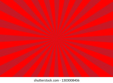 vector of red sun burst ray background