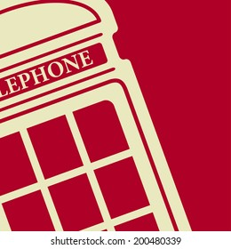 Vector red telephone box icon. Eps10