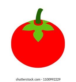 vector red tomato illustration - veggie ripe, organic food
