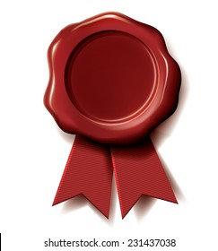 Vector red wax seal.