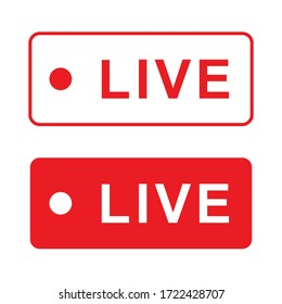 Vector red and white live writing.