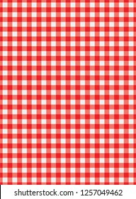 Vector Red and white tablecloth pattern