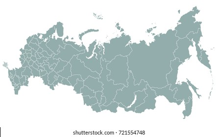 vector regions map of Russia