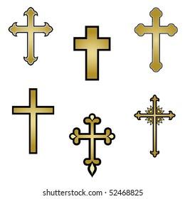 vector religious cross design collection