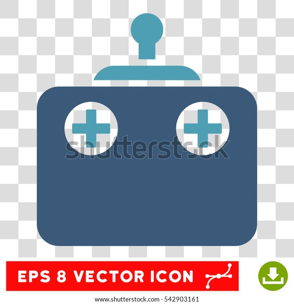 Vector Remote Control EPS vector icon. Illustration style is flat iconic bicolor cyan and blue symbol on a transparent background.