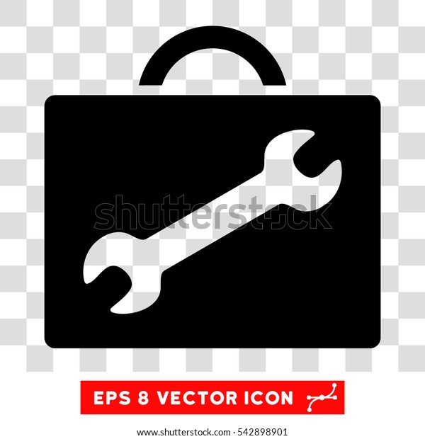 Vector Repair Equipment EPS vector icon. Illustration style is flat iconic black symbol on a transparent background.