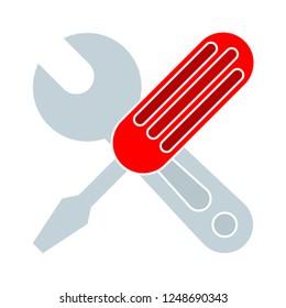 vector repair tool symbol - carpentry work equipment - industrial tool