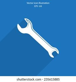 Vector repair web flat icon. Eps 10.