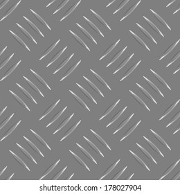 vector repeated gray metal pattern with many metallic elements