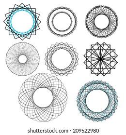 Vector repeating geometric decorative elements