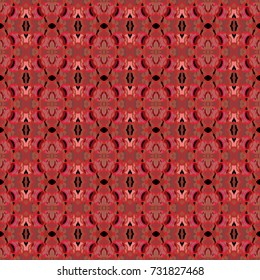 vector repeating pattern  of red lace texture design over a black  background